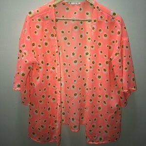 Summer Sheer Floral Jacket